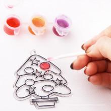 Оптовая artoys детей A0078 xmas дерево&Санта витраж роспись