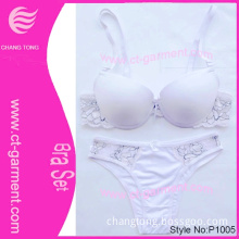 White Suit with Lace Sexy Lingerie/Beautiful Bra Sexy Underwear New Design (P1005)