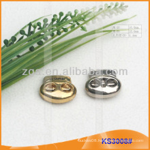 Metal cord stopper or toggle for garments,handbags and shoes KS3008