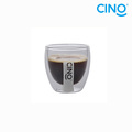 2014 nuevo productos vidrio borosilicato doble pared vidrio taza DG-B-100