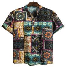 Mens beach wear printd holid shirt