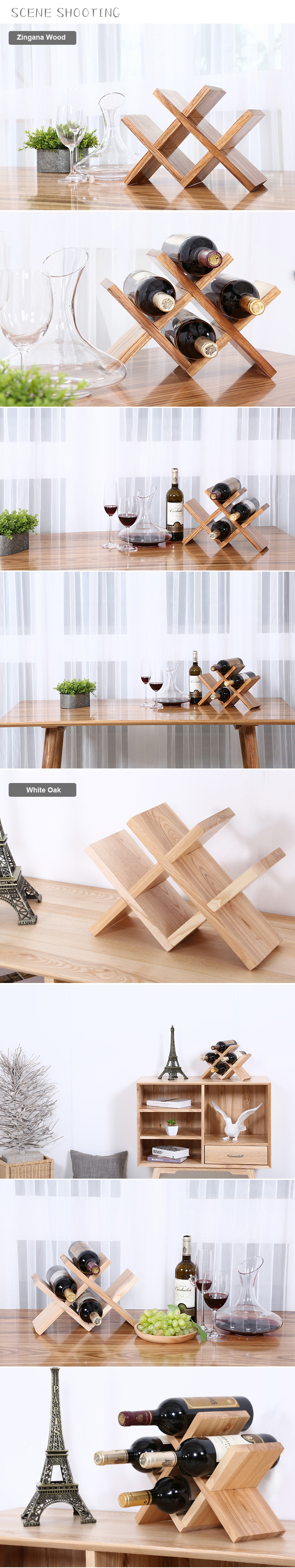 Detachable Wooden Wine Display Rack