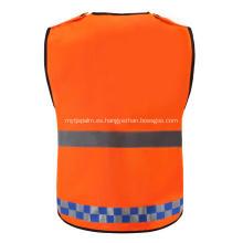 Advertencia de manga de tiro 100% poliéster Chaquetas reflectantes de seguridad