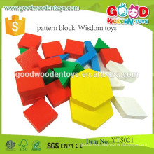 Educational Preschool Tangram Puzzle Blocks Wood Pattern Blocks- Wisdom Toys