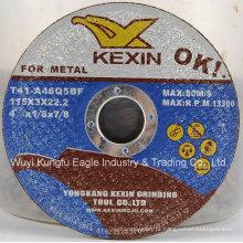 Disco abrasivo de alta qualidade do metal de Kexin para o metal