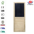 Louvered Stainable Screen Wooden Door