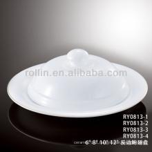 Saudável japão estilo branco placa durável especial com tampa