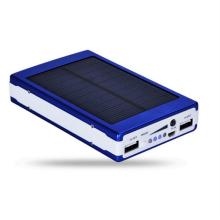 Водонепроницаемый силиконовый фонарик Солнечная энергия 10000mAh банка мощности