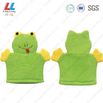 Frog children animal shower bath gloves