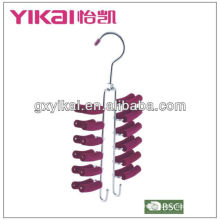 cheap metal tie hangers with 24 rakcs and 2 belt racks made in guangxi