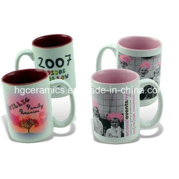 Photo Mug, 15oz Two Tone Sublimation Mugs