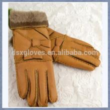 Custom Fur Glove Wool Lined Sheepskin Fur Glove