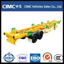 Cimc 2 Axle 60ton Terminal Container Anhänger