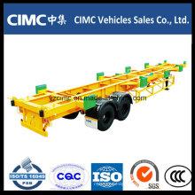 Cimc 2 Eixo 60ton Terminal Reboque Container