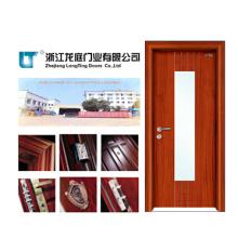 Puerta de entrada de puerta de madera de vidrio interior (LTS-204)