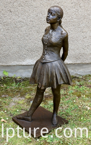 bronze girl dancer statue