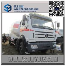 Camión mezclador de concreto 12 Wheeler North Benz 7000 Liter
