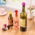 Rolha de garrafa de vinho de silicone FDA livre de BPA personalizada