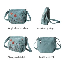 Flower Princess Women Canvas Bag Embroidery