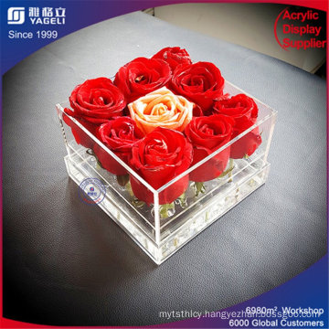Wholesale Acrylic Waterproof Flower Box for 9 Rose Display