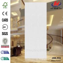 JHK-F02 Flush Gerade Linie Weiß Grundierung Tür Skin Holz
