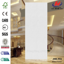 JHK-F02 Flush Straight Line Blanco Primer Puerta Piel Madera