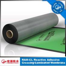 Membrane imperméable auto-adhésive d'un côté de film de HDPE / feutre de toiture / underlay de sous-sol / feuille de garage (ISO)