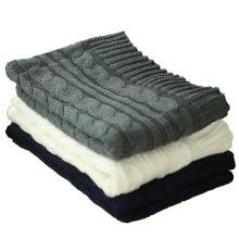 2017 invierno cálido color sólido llano patrón decorativo mujeres bufanda de punto de punto bufanda de punto scarveas personalizado