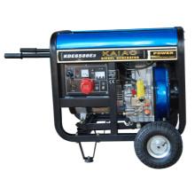 KDE6500E 5kw Diesel Generator Fitted With AVR On Wheels