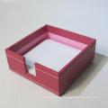 Quality Leather Memo Pad Holder Box