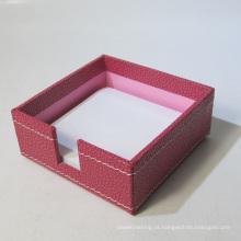 Qualidade de couro Memo Pad Holder Box