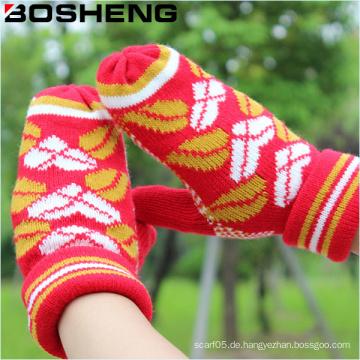 Art- und Weisefrauen strickte warmer Baumwollvoller Finger-Handschuh