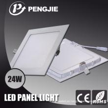 Luz de panel blanca 300X300 24W LED con CE RoHS (PF> 0.9)