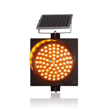 Segurança rodoviária 300mm luz de aviso âmbar solar