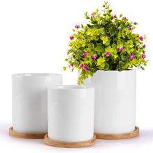 Garden suppliers outdoor ceramic flower pots planters big flower pot succulent plant pots for indoor plants
