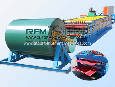 Double layer metal roof roll forming machine