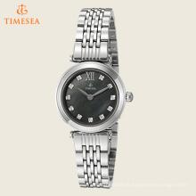Relógio de pulso de aço relógio de quartzo com diamantes71226