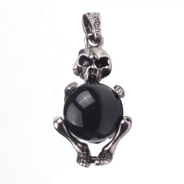 Antique Skull Onyx Jewelery Accessories Pendant Necklace