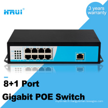 AF norme large tempurature Gigabit 8 ports swith poe