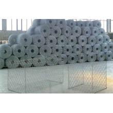 PVC beschichtet Galvanisierter Hexgonal gewebter Typ Gabion Käfig für Stein