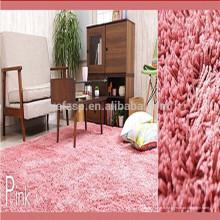 polyester shaggy pink tapis de prière d'affichage des prix de gros