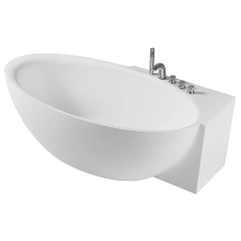 Baignoire indépendante en acrylique avec robinet de baignoire
