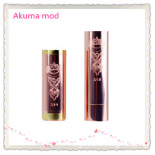 New Product Copper Wholesale Mechanical Mod Akuma Mod 1: 1 Clone with 18650 Dry Battery