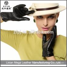 New Design Moda baixo preço pele de carneiro luvas de trabalho de couro