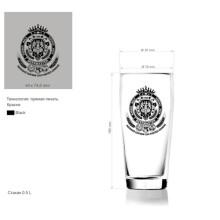 Стеклянная чашка для пива Кубок виски Glass Glassware Tumbler Kb-Hn03591