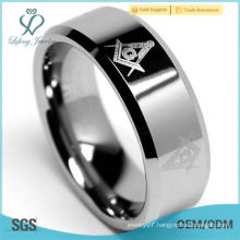 Tungsten Carbide 8mm Freemason Men's Ring