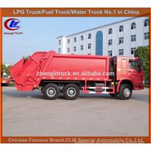 HOWO Ordures Compacteur Camion Contenedor de basura