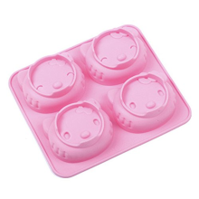 4 wajah Holle-Kitty Silicone Cake Chocolate Mold