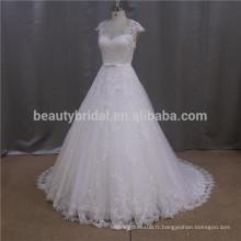 Robe de mariée en perles à perles modérées kurze brautkleider
