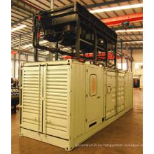 Googol 50Hz Dos combustible Diesel Gas 2000kw Grupo de generadores Tipo de contenedor